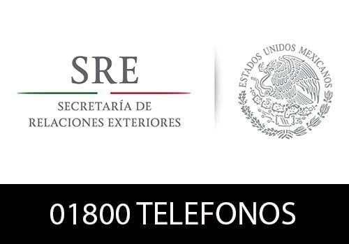 Secretaria de Relaciones Exteriores telefono atención al cliente