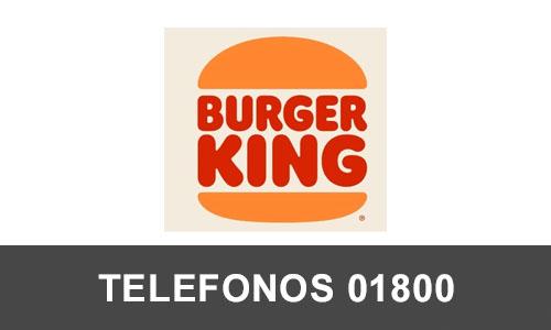 Burger King telefono atención al cliente