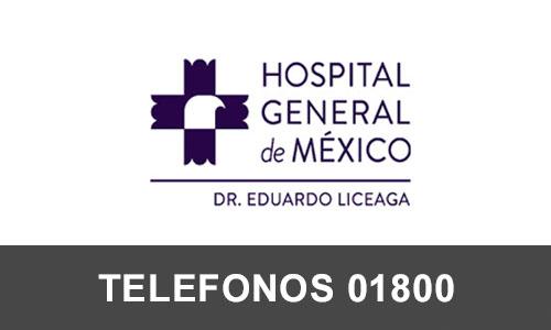 Hospital General de Mexico telefono atención al cliente